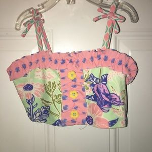 Kids Matilda Jane swim top only sz 8 excellent!